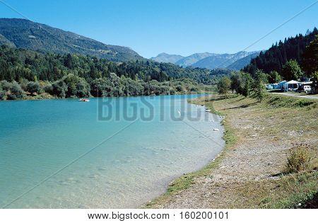 Lescheraines Lake In Bauges, Savoy, France