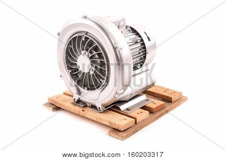 Electric motor isolated on the white background.
