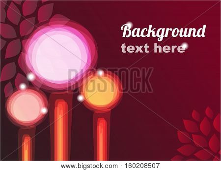 Abstract background. Vector floral design with place for text.