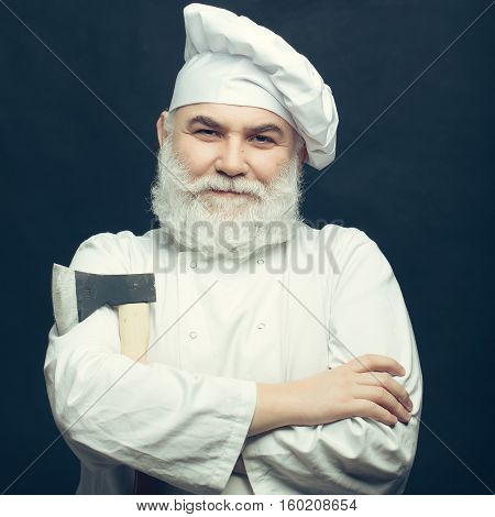 Cook In Uniform With Axe