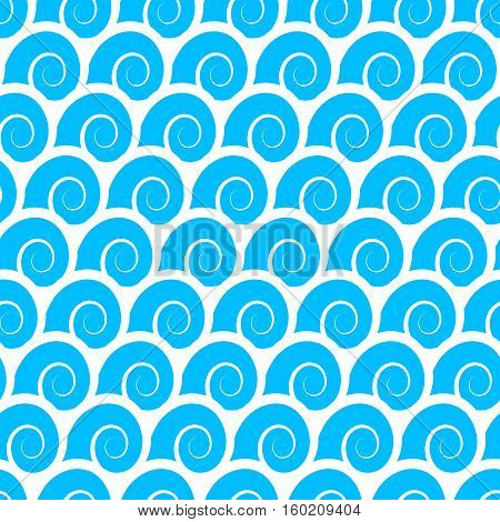 Waves seamless. Vector pattern for your design.