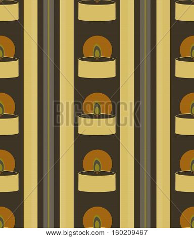 Seamless from candles. Vector striped geometric pattern.