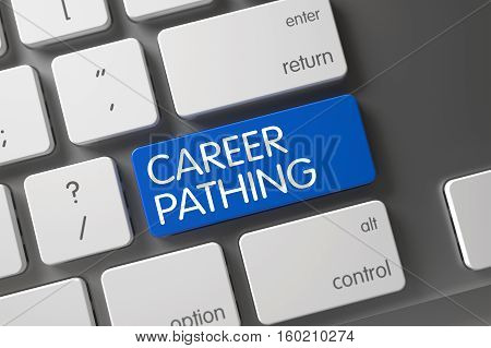 Concept of Career Pathing, with Career Pathing on Blue Enter Keypad on Modern Keyboard. 3D Illustration.