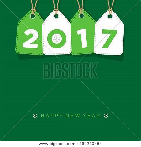 Happy new year 2017 vector greeting background