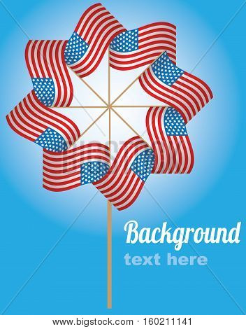 Card for Independence day with place for text.