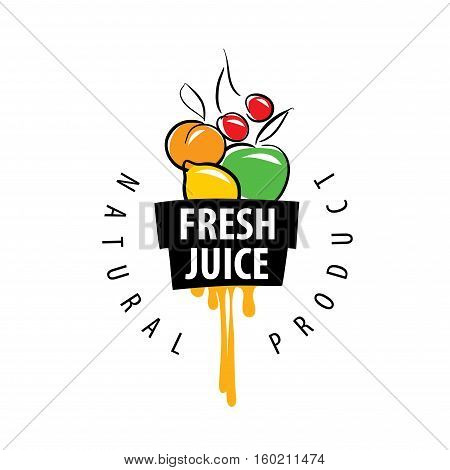 logo design template fresh juice. Vector illustration of icon