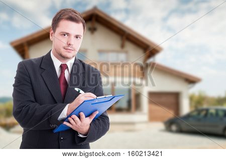 Professional Estate Seller With Clipboard