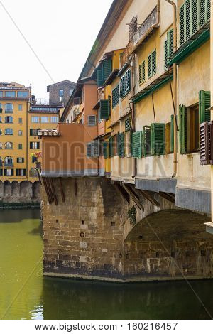 Ponte Vecchio In Florence Side On Angle