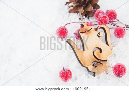 Christmas Decoration On Snow