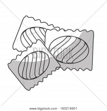 wrapped candy icon image vector illustration design