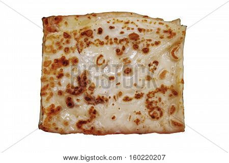 delicious nutritious pancake isolated on white background