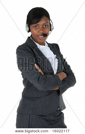 Attractive Business Woman With Headset 05