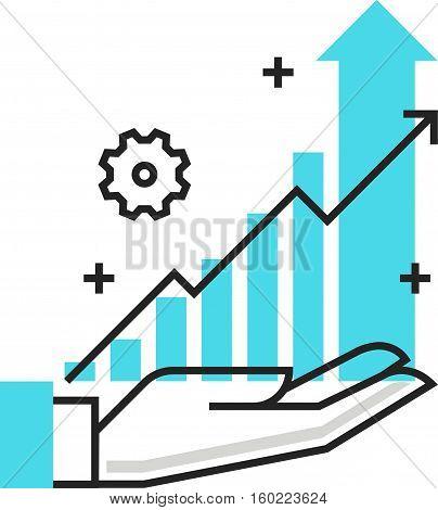 Color Box Icon, Concept Illustration