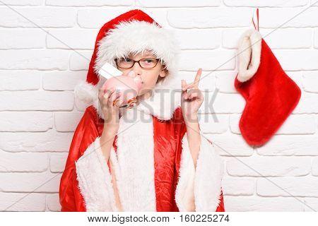 Young Cute Santa Claus Boy