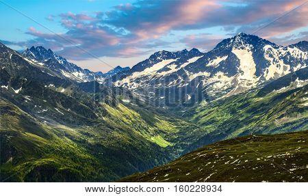 Grossglockner High Alpine Road. Austria, Alps, Europ