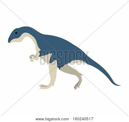 colorful cartoon with dinosaur allosaurus vector illustration