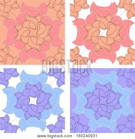 Four vector seamless in different colors for your design.