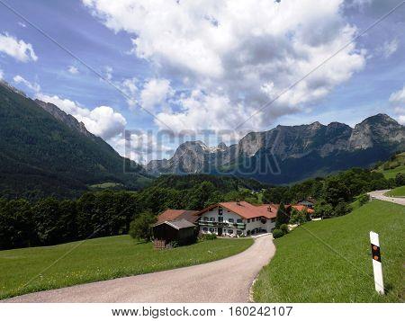 Typisches Bauernhaus im Berchtesgadener Land in Bayern