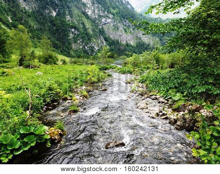 Landschaft am Königssee im Berchtesgadener Land in Bayern
