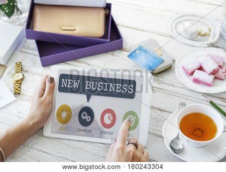 New Business Launch Startup Strategy Planning Concept