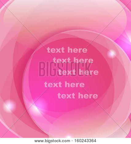 Pink vector background with place for text.