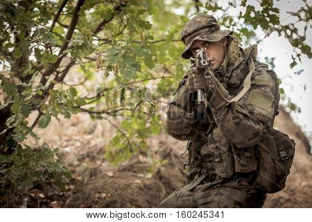 Sniper Aiming From Weapon