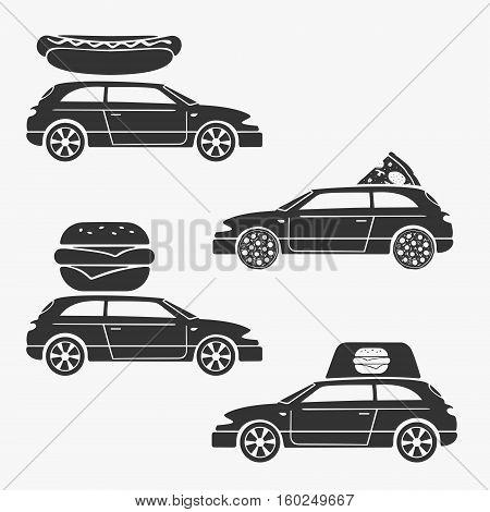 Food delivery symbol vector illustration eps 8 file format