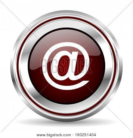 email icon chrome border round web button silver metallic pushbutton