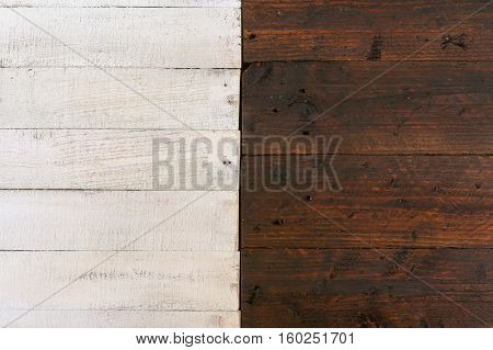 White And Dark Brown Painted Rough Wood Background