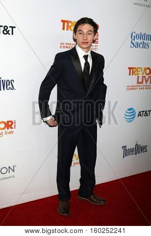 LOS ANGELES - DEC 4:  Jared Gilmore at the TrevorLIVE Los Angeles 2016 at Beverly Hilton Hotel on December 4, 2016 in Beverly Hills, CA