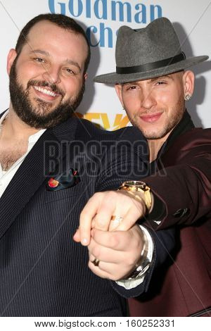 LOS ANGELES - DEC 4:  Daniel Franzese, Joseph Bradley Phillips at the TrevorLIVE Los Angeles 2016 at Beverly Hilton Hotel on December 4, 2016 in Beverly Hills, CA
