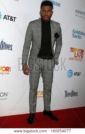 LOS ANGELES - DEC 4:  Trevor Jackson at the TrevorLIVE Los Angeles 2016 at Beverly Hilton Hotel on December 4, 2016 in Beverly Hills, CA