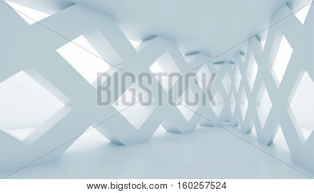 Abstract 3D Corridor Cells Partitions