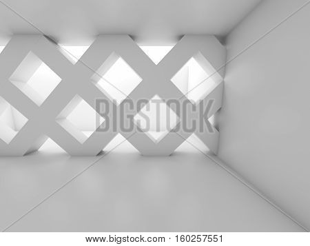 3D Abstract Empty Room With Partition