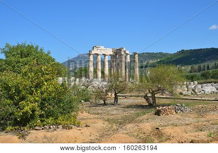 Greek Landscape Near Nemea, Peloponnese, Greece