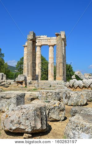 Temple Of Zeus In Nemea, Peloponnese, Greece