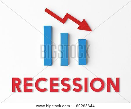 Recession Statistics Financial Failure Concept