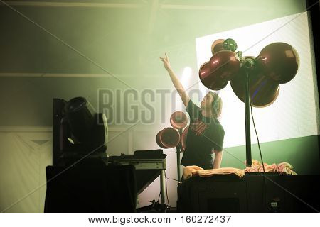 NEW YORK, NY - JUNE 18, 2016: Bingo Players presents Bingo Beach at Governors Club on Governors Island, June 18, 2016 in New York City