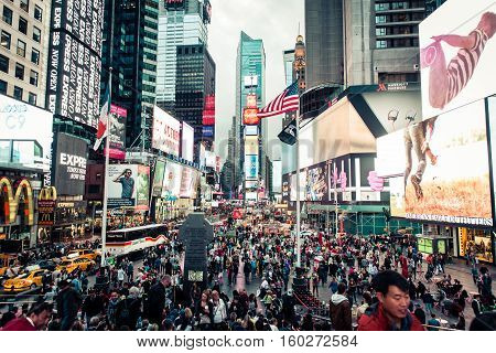 New york New yorkUsa. September 27th 2015. Traffic jam in New york. New York is a state in the United States and is the 27th-most extensive fourth-most populous and 7th-most densely populated U.S. state.