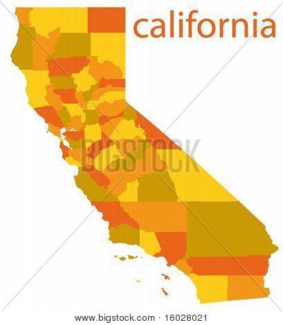 california vector map