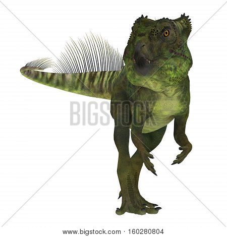 Archaeoceratops Dinosaur on White 3D Illustration - Archaeoceratops was a Ceratopsian herbivorous dinosaur that lived in China in the Cretaceous Period.
