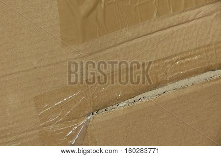 Brown Corrugated Cardboard Surface Background