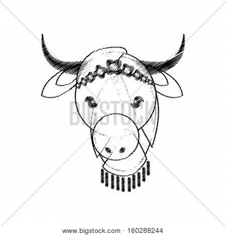 head indian sacred cow culture vector illustration eps 10
