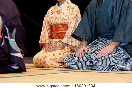 Man and woman during the tea ceremony