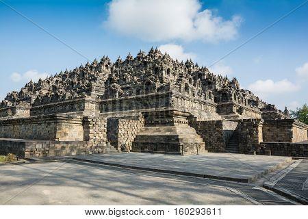 View of the Borobudur Buddhist Temple, Java Island, Yogyakarta, Jakarta, Indonesia