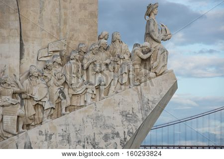 Monument to the Discoveries is a monument on the northern bank of the Tagus River estuary in Lisbon Portugal. The monument celebrates the Portuguese Age of Discovery (or Age of Exploration) during the 15th and 16th centuries