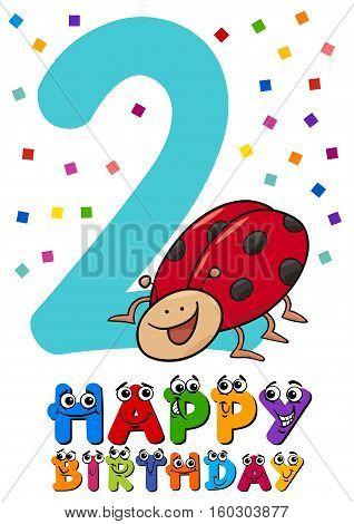 Second Birthday Card Design
