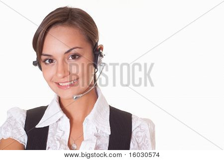 Young Nice Woman Standing