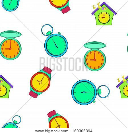 Chronometer pattern. Cartoon illustration of chronometer vector pattern for web