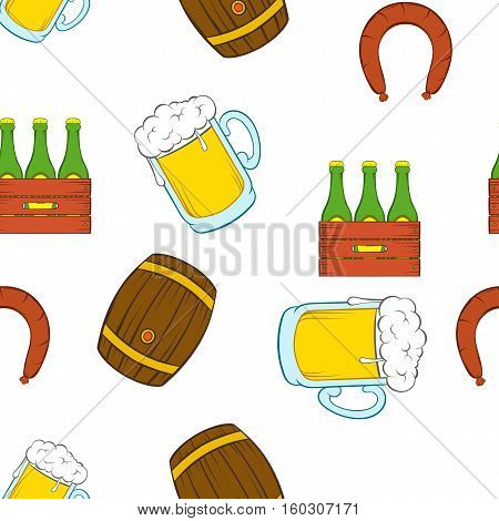 Barley drink pattern. Cartoon illustration of barley drink vector pattern for web